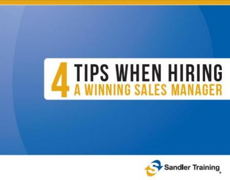 4 Tips when hiring a sales mgr